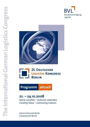 Programm - Deutscher Logistik Kongress 2008 - Verkehrsrundschau