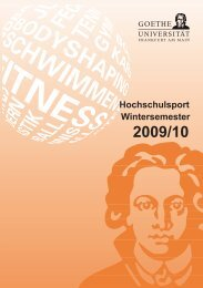 Wintersemester 2009/10 - Goethe-Universität