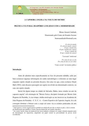 1 A CAPOEIRA ANGOLA NA VOLTA DO MUNDO PRÁTICA ...