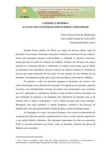 CAPOEIRA E MEMÓRIA - XI Congresso Luso Afro Brasileiro de ...