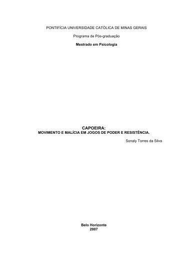 Capoeira Movimento e Malícia em - PUC Minas
