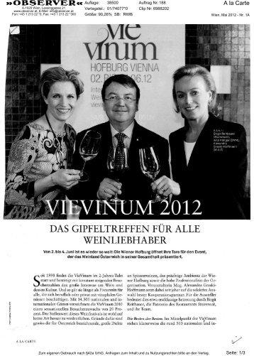 2012-05-29 VieVinum, A la Carte