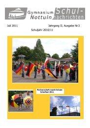 Juli 2011 Jahrgang II, Ausgabe Nr.3 Schuljahr - Gymnasium Nottuln