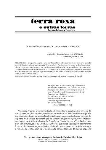 A MANDINGA VERSADA DA CAPOEIRA ANGOLA