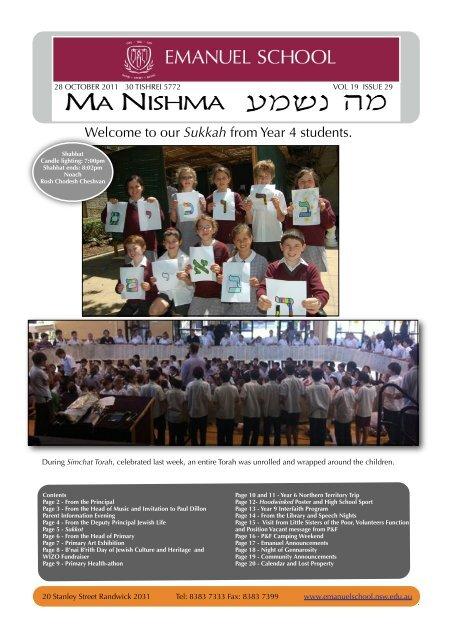 ISSUE 29 OCT 28 TERM 4 - Emanuel School