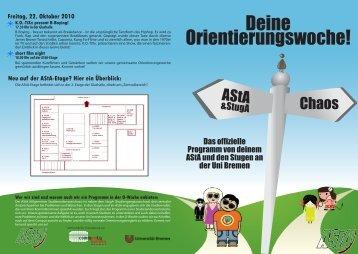 Programm der O-Woche [PDF] - AStA - Universität Bremen
