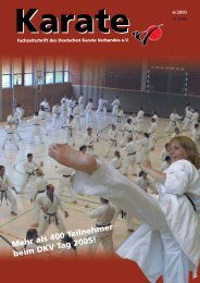 Mehr als400Teilnehmer beimDKVTag2005! - Chronik des Karate