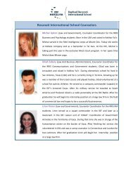 Recanati International School Counselors