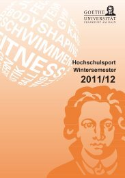 Wintersemester 2011/12 - Goethe-Universität