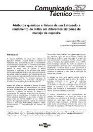 Atributos químicos e físicos de um Latossolo e rendimento de milho ...