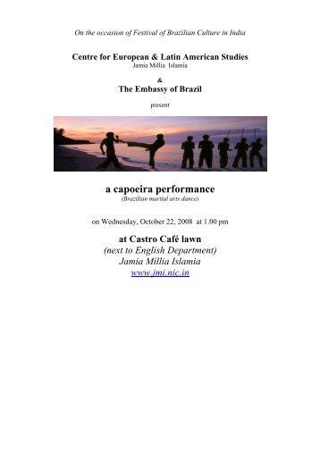 a capoeira performance - Jamia Millia Islamia