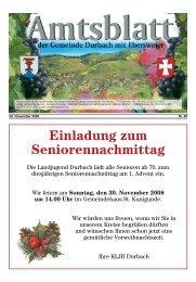 Einladung zum Seniorennachmittag - Durbach