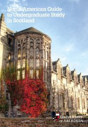 North American Guide - University of Aberdeen