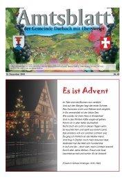 Tourist-Information/Verkehrsverein Durbach in der Zeit vom Freitag ...