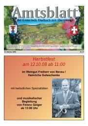 Herbstfest am 12.10.08 ab 11:00 im Weingut Freiherr von ... - Durbach