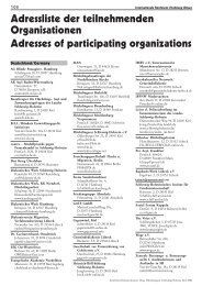 Adressliste der teilnehmenden Organisationen - Flüchtlingsrat ...