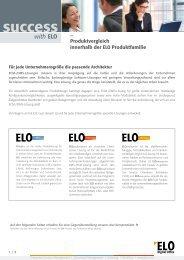 Produktvergleich innerhalb der ELO Produktfamilie