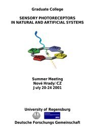 Artificial Sensory Photoreceptors - Biologie und Vorklinische ...