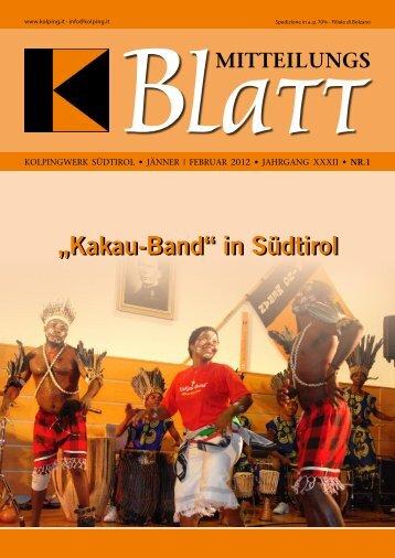 """""""Kakau-Band"""" in Südtirol - Kolpinghaus Meran"""