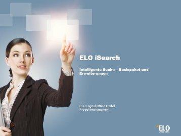 ELO iSearch: selbstlernendes DMS-basiertes Wissensmanagement