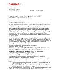 """Pressekonferenz """"Caritas-Markt – gesund!"""" vom 6.9 ... - Caritas Bern"""