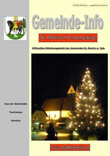 6,32 MB - Gemeinde St. Martin am Tennengebirge