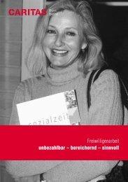 Freiwilligenarbeit unbezahlbar – bereichernd – sinnvoll - Caritas Bern