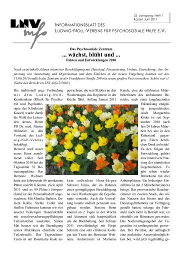 wächst, blüht und - Ludwig-Noll-Verein