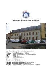 Výroční zpráva o činnosti za školní rok 2009/2010 - Caritas