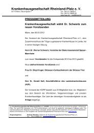 Presse-Info der KGRP - Caritasverband für die Diözese Trier eV