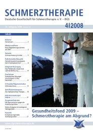 schmerztherapie 4/2008 - Schmerz Therapie Deutsche Gesellschaft ...