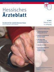 Hessisches Ärzteblatt Februar 2011 - Landesärztekammer Hessen