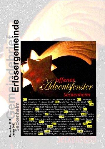 Gemeindebrief - Evangelische Kirche in Mannheim