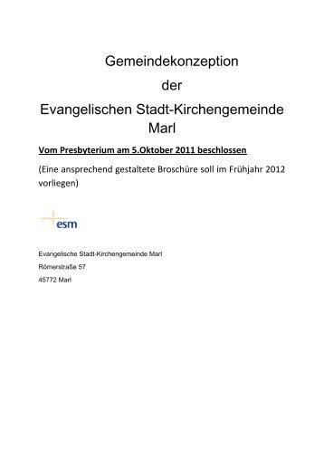 Gemeindekonzeption der Evangelischen Stadt-Kirchengemeinde Marl