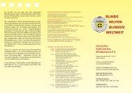 Flyer 2011, PDF, ca. 600 kB - Deutsches Katholisches Blindenwerk