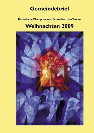 Weihnachten 2009 - Katholische Pfarrgemeinde Schwalbach am ...