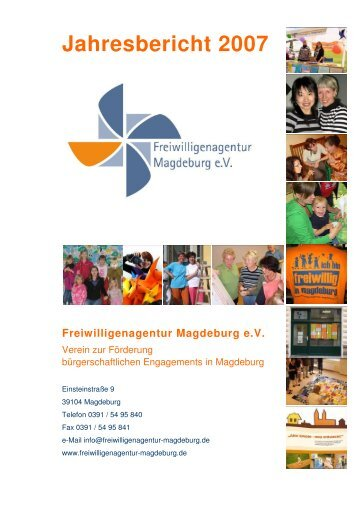 Jahresbericht 2007 - Freiwilligenagentur Magdeburg