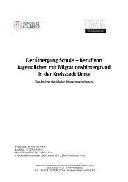 Der Übergang Schule – Beruf von Jugendlichen ... - Kreisstadt Unna