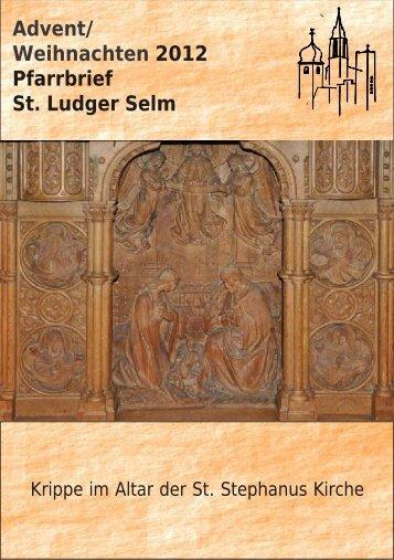 Advent/ Weihnachten 2012 Pfarrbrief St. Ludger Selm - Pfarrei St ...
