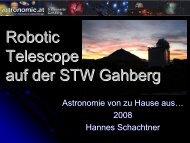 Astronomie von zu Hause aus