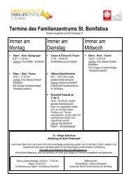 Programm und Angebote 2012 - Übersicht