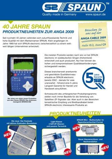 Spaun Produktneuheiten von der ANGA 2009 - SATEC