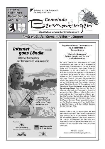 Tag des offenen Denkmals am 12. September in Bermatingen