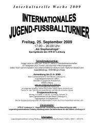 I n t e r k u l t u r e l l e   W o c h e   2 0 0 9 Freitag, 25. September 2009