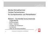 Monika Schnellhammer Caritas-Fachambulanz für Suchtprävention ...