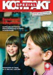 Bensberger Symposium - Katholische Tageseinrichtungen für ...