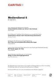 Mediendienst 6 - CARITAS - Schweiz