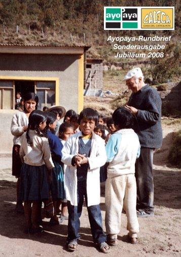 Ayopaya-Rundbrief Sonderausgabe Jubiläum 2008 - Missionskreis ...