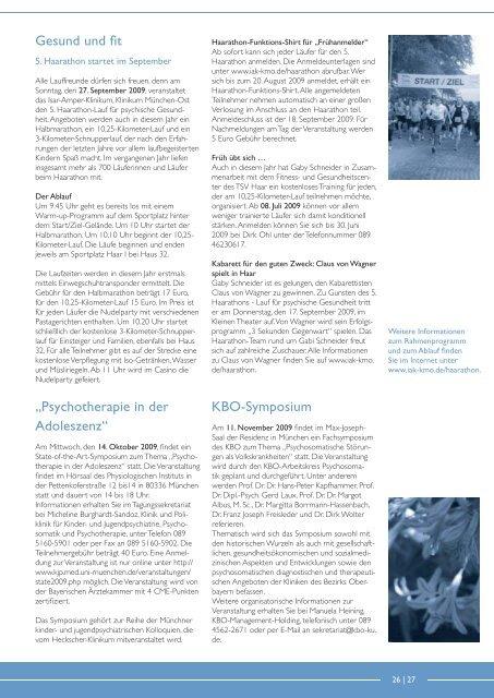 KBO Kurier - Kliniken des Bezirks Oberbayern