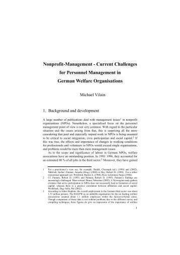 Nonprofit-Management - Current Challenges for Personnel ...
